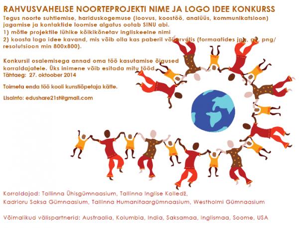 Rahvusvahelise noorteprojekti nime ja logo idee konkurss